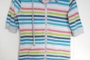 Zdjęcie do ogłoszenia: Sportowa bluza Forever Pink XL 42 kolorwa pasy paski szara kaptur