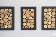 Zdjęcie do ogłoszenia: Obraz tryptyk plaster drewna, panel, drewniana rama, wysyłka