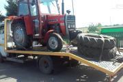 Zdjęcie do ogłoszenia: Transport maszyn rolniczych przyczep rozrzutników Stanisławów laweta