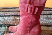Zdjęcie do ogłoszenia: Kozaki zamszowe, skórzane, kolor Ceglany, rozmiar 37, Nowe