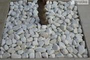 Zdjęcie do ogłoszenia: OTOCZAK BIAŁY WHITE 10-20 mm, 20-40 mm, kamień ogrodowy