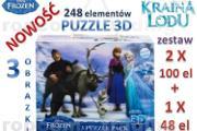Zdjęcie do ogłoszenia: FROZEN Kraina Lodu Elsa Anna Puzzle 3x 3D