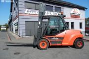 Zdjęcie do ogłoszenia: Wózek widłowy Linde H80D-02/1100 Triplex , przesuw boczny Kaup , 8T 7.1M