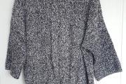Zdjęcie do ogłoszenia: Sweter włóczkowy H&M 40 L granatowy melanż 42 XL oversize 44 XXL