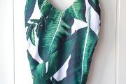 Zdjęcie do ogłoszenia: Nowy strój kąpielowy liście dekolt wycięcia cut out wzór floral zielony XL 42