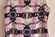 Zdjęcie do ogłoszenia: Nowa bluzka H&M 40 L 38 M czarna floral top kwiaty wzór print Lana Del