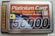 Zdjęcie do ogłoszenia: Platinium Card MC221 Discovery V.90 Modem 56000 Karta Modemowa do laptopa Made in France