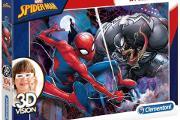 Zdjęcie do ogłoszenia: Puzzle Marvel SpiderMan 104 el. Okulary 3D Vision