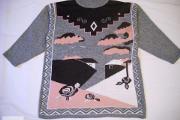 Zdjęcie do ogłoszenia: Szary sweter z wzorem L 40 42