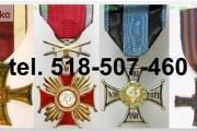 Zdjęcie do ogłoszenia: Kupie sare ordery, medale,odznaki,odznaczenia tel. 518-507-460