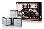 Zdjęcie do ogłoszenia: Metalowe lodowe kostki do drinków 8 sztuk + szczypce