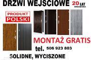 Zdjęcie do ogłoszenia: Drzwi wejściowe z montażem ZEWNĘTRZNE do mieszkania w bloku-drewniane-metalowe -WEWNĄTRZLOKALOWE!