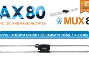 Zdjęcie do ogłoszenia: Uniwersalny dipol AX 80 do Anten naziemnych DVB-t MUX 8